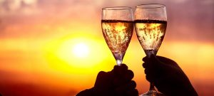 champagne-at-sunset